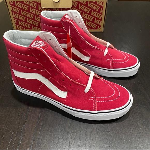 Vans Shoes   Sk8hi Crimson   Poshmark